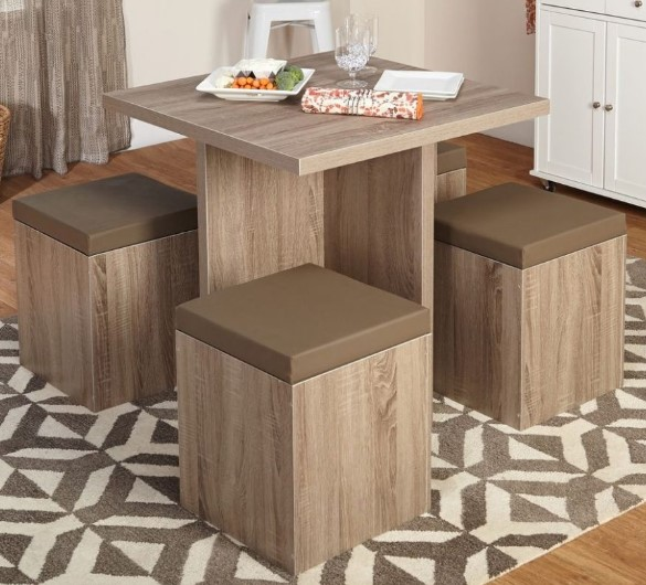 Elegant Woody Small Dining Table