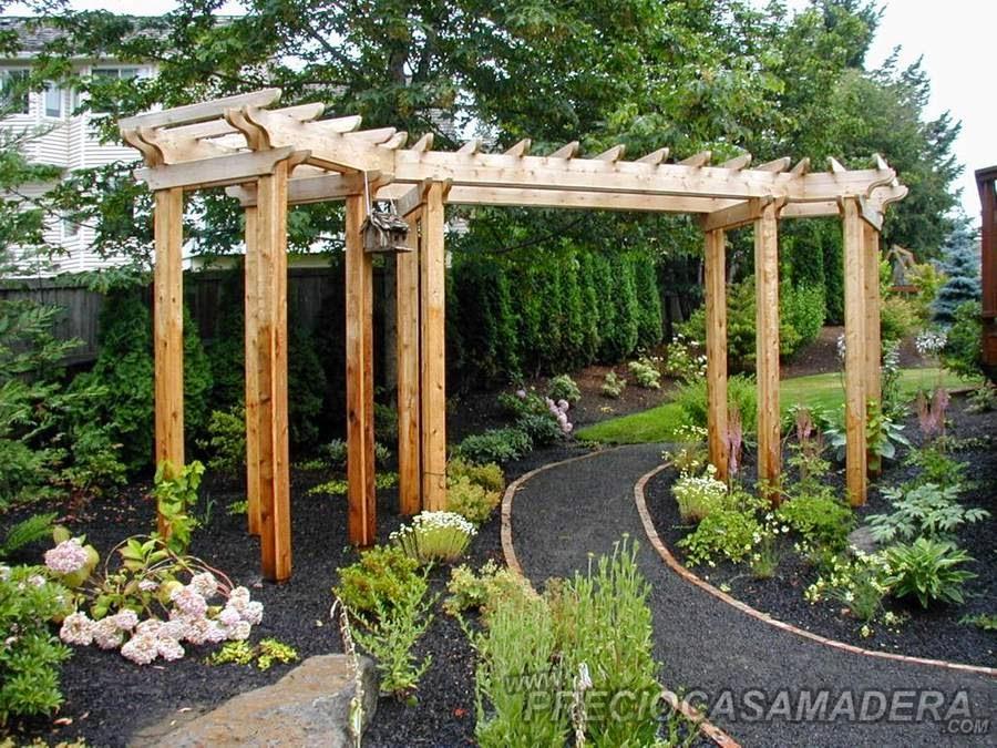Vigas de madera para jardin Arcos de madera para jardin