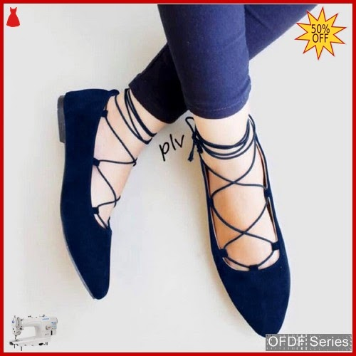 OFDF185 Sepatu Flat Cantik Balet Lace Up BMGShop