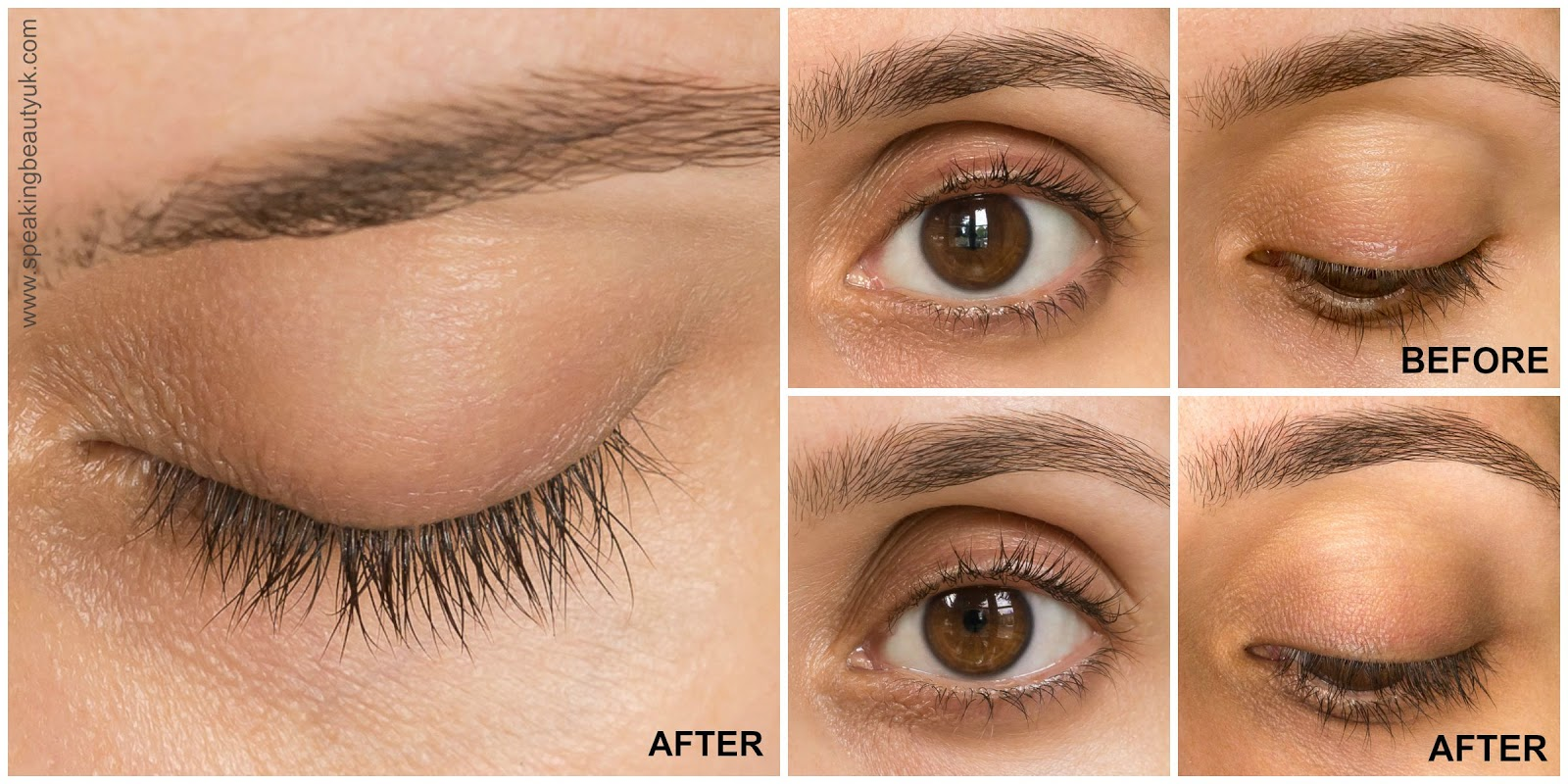 Realash Eyelash Enhancer - 1 Month Update - before & after