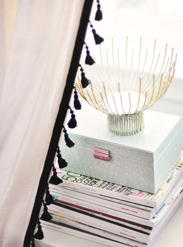 custom DIY tassel curtains