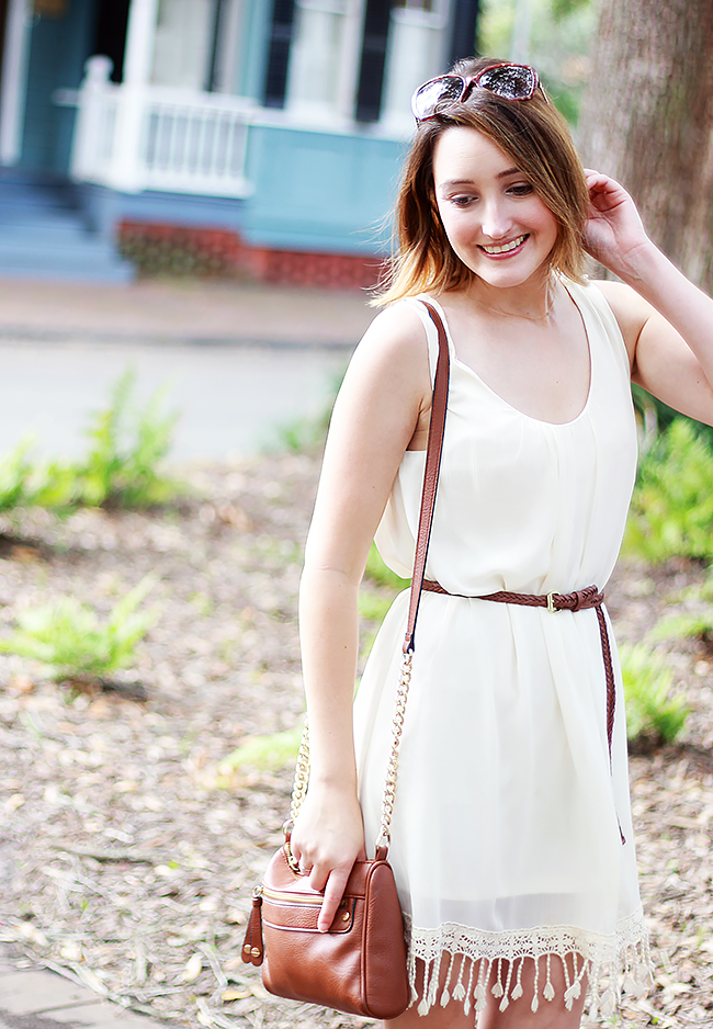 White Tassel Summer Dress