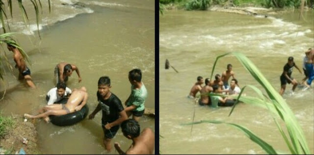 Jenazah Rio yang hanyut di Sungai Silau Asahan ditemukan