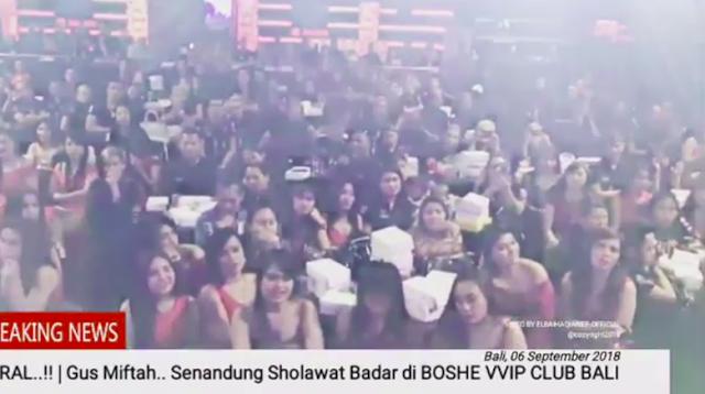 Viral Ulama Ajak Selawat Wanita Bergaun Seksi di Klub Malam Bali