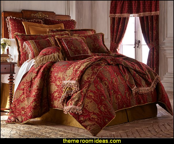 Sherry Kline China Art Red 6-piece Comforter Set    Medieval Knights & Dragons decorating ideas - knights castle decor - knights and dragons theme rooms - dragon theme decor - prince decor - medieval castle wall murals - knights and dragons baby bedding - Knights Medieval bedding - dragon bedding - dragon murals - dragon themed bedroom ideas - Princess decor