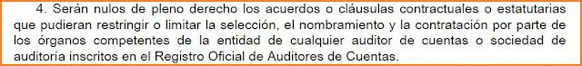 Artículo 22.4 de la Ley 22/2015, de Auditoría de Cuentas