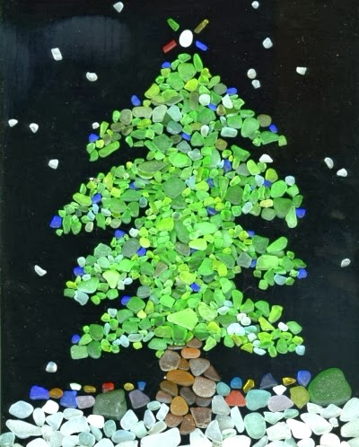 seaglass Christmas tree photo