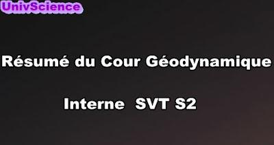 Résumé Du Cour Géodynamique Interne SVT S2 PDF