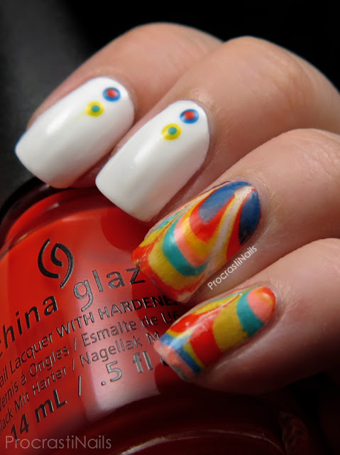 Water Marble Decal Nail Art Fail with the China Glaze Road Trip Collection
