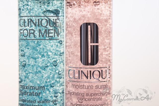 Clinique Moisture Surge para nosotras y Maximun Hydrator para ellos: para aportar un extra de hidratación a todas las pieles.