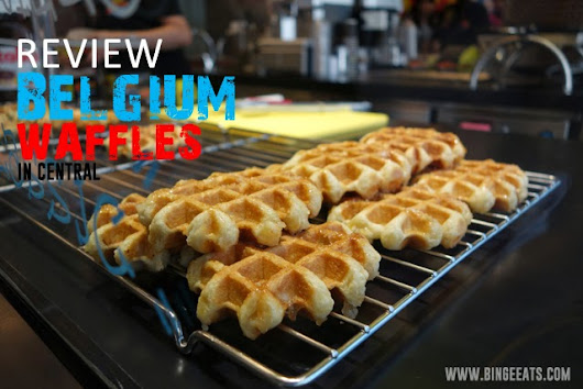 AMAZING AUTHENTIC BELGIAN WAFFLES IN CENTRAL HONG KONG!