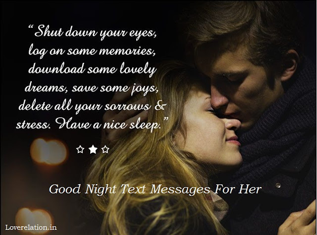Sweet Good Night Messages For Her