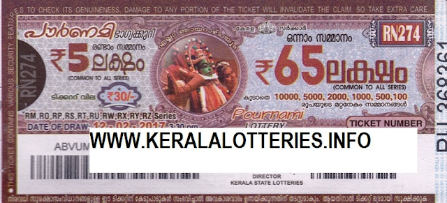 Full Result of Kerala lottery Pournami_RN-225