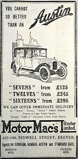 Motor Macs advert from 1929