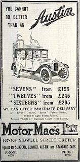 Motor Macs advert from 1929