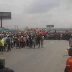 Photos: One killed as soldiers and Biafra supporters clash in Onitsha { #biafra }