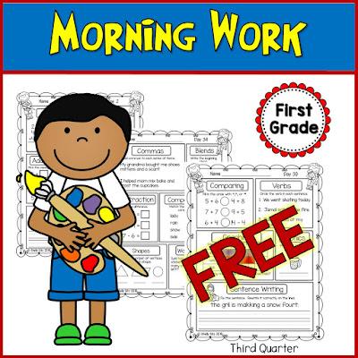 Morning Work for 1st Grade
