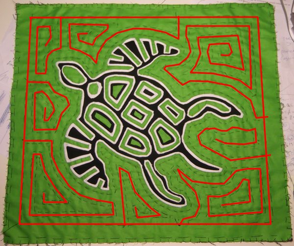 mola maze, mola labyrinth, maze art, maze embroidery, maze in art,