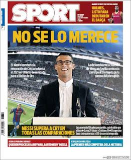 Portada Sport Cristiano Ronaldo 2