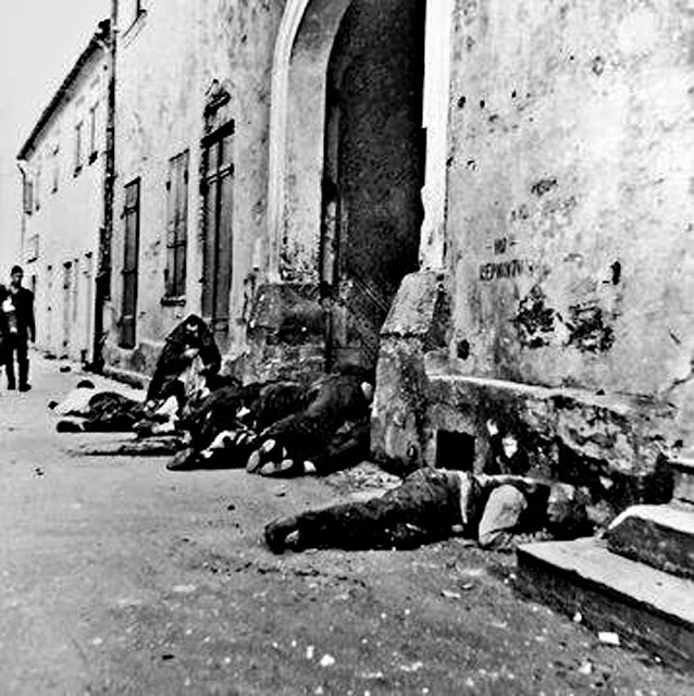 Aftermath of massacre in Konskie Town Square Sept. 12, 1939 (Random House)