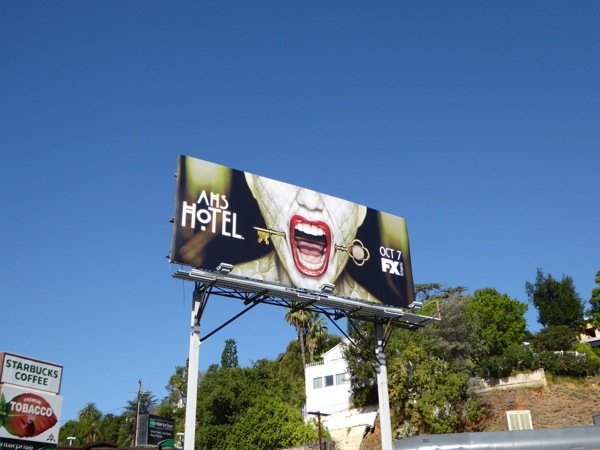 American Horror Story Hotel key mouth billboard