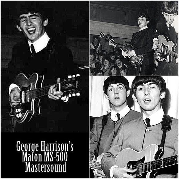 George Harrison : la guitare Maton Mastersound MS-500 aux enchères