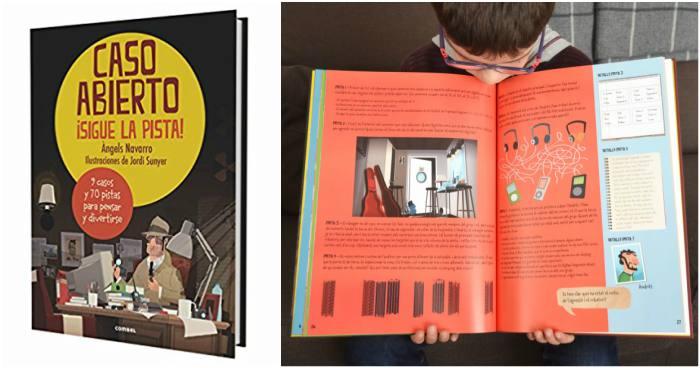 cuentos y libros infantiles juveniles para +8, 12 años caso abierto sigue la pista