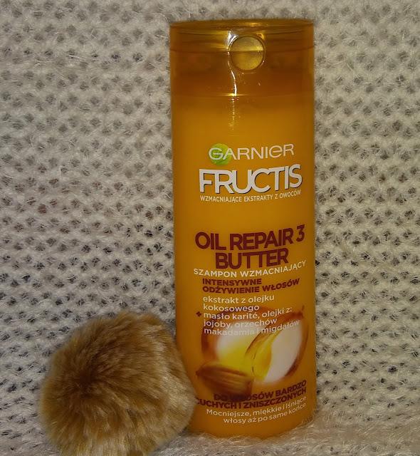 Garnier Fructis, Oil Repair 3 Butter - szampon, odżywka.