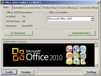 DOWNLOAD Office 2010 Toolkit and EZ-Activator 2.1.5 BETA 1 ...