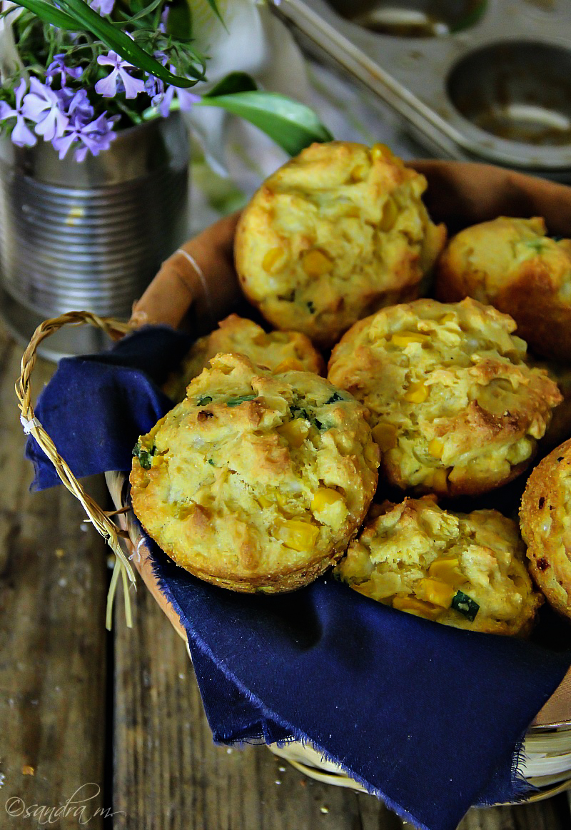 Gluten Free Corn Muffins with Scallions