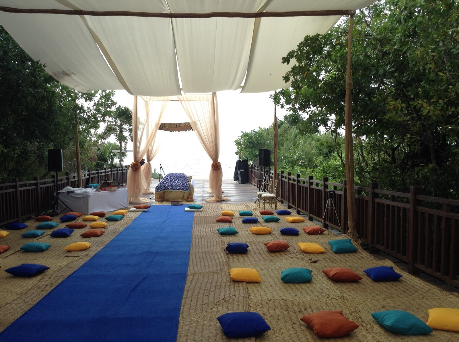 Outdoor Sikh Wedding On Beach Paradisus Melia Riviera Maya