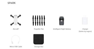 Spesifikasi Drone DJI Spark - OmahDrones
