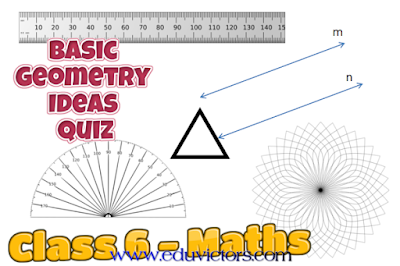 CBSE Class 6 - Maths - Basic Geometry Ideas - Quiz (#cbsenotes)(#eduvictors)