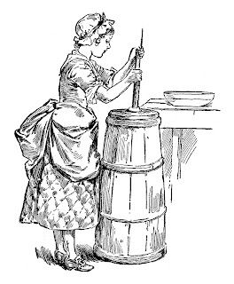 milkmaid illustration vintage clip art girl