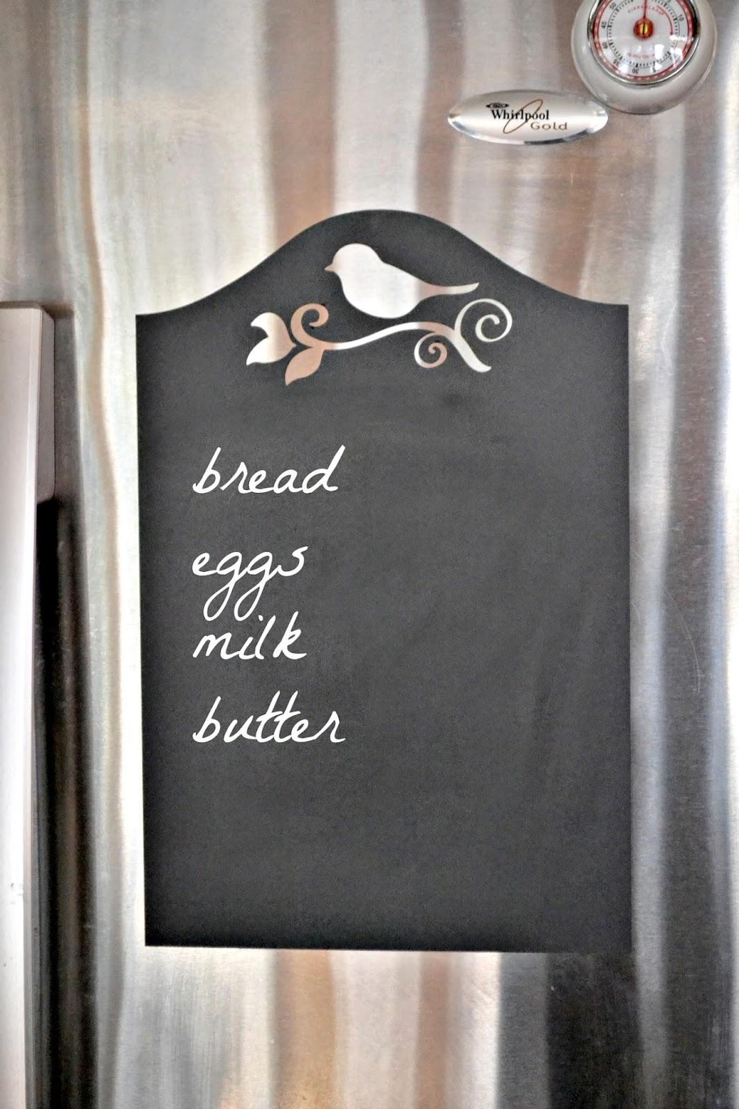 Refrigerator chalkboard www.homeroad.net