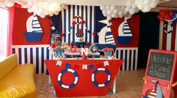 Fiesta al estilo n utico for Decoracion nautica infantil