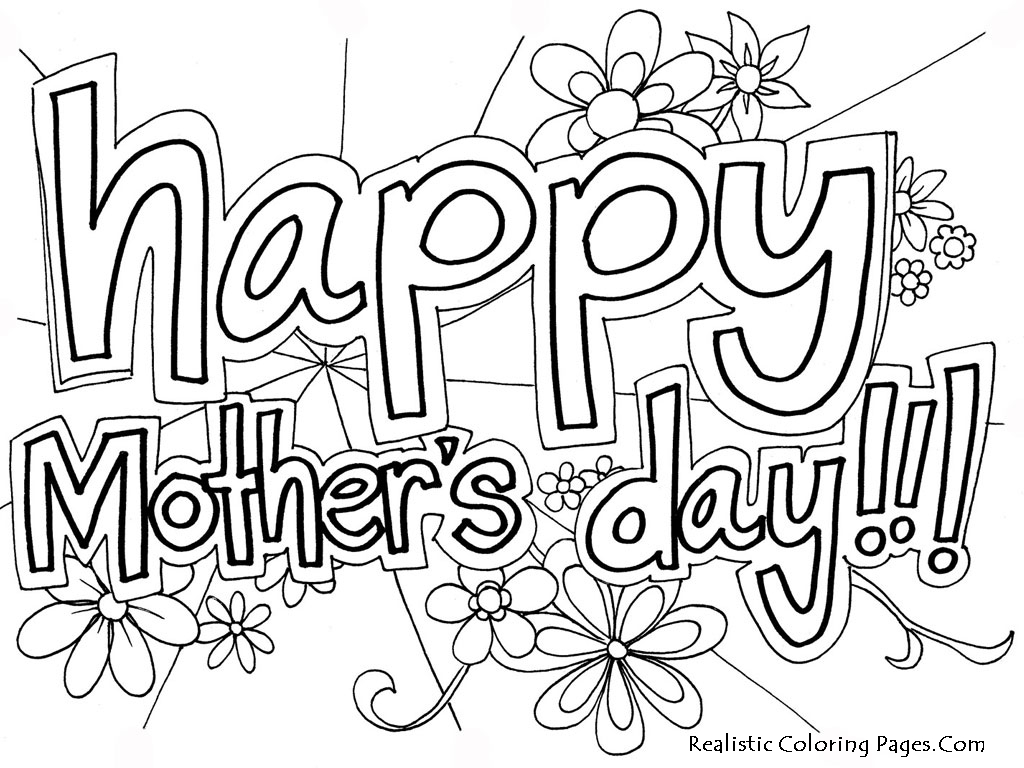 Mothers Day Coloring Pages Free