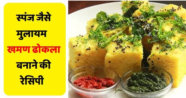 Gujarati Dish Khaman Dhokla Recipe in Hindi - Dhokla recipe - hindi fun box