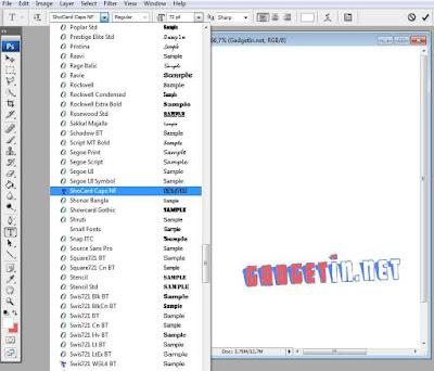 Cara Menambahkan Font Baru Di Photoshop CS3,CS4,CS5,CS6,CS7,CC