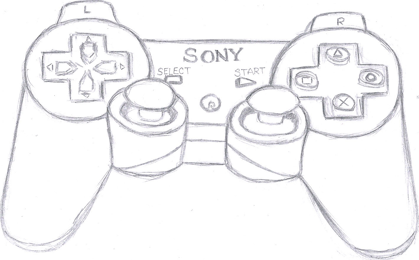 How To Draw Ps3 Controller Sketch Coloring Page