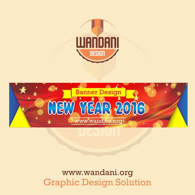 Free Vector : Download Desain Spanduk Tahun Baru 2016