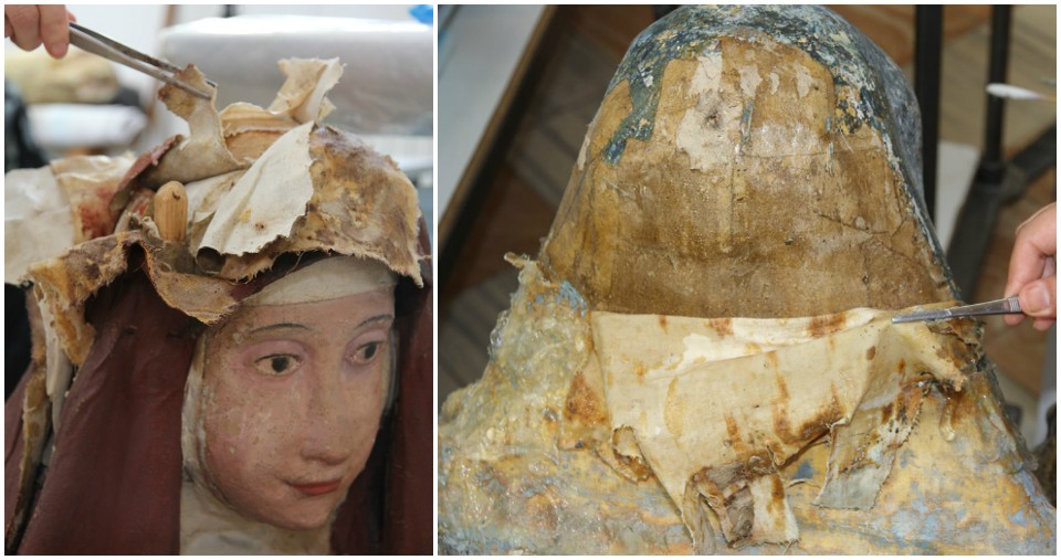 Eliminación de telas y parches de Maria Magdalena y Cleofas