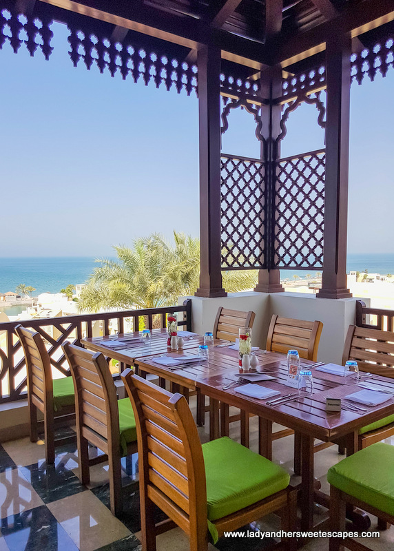 Basilico outdoor seating at The Cove Rotana Resort