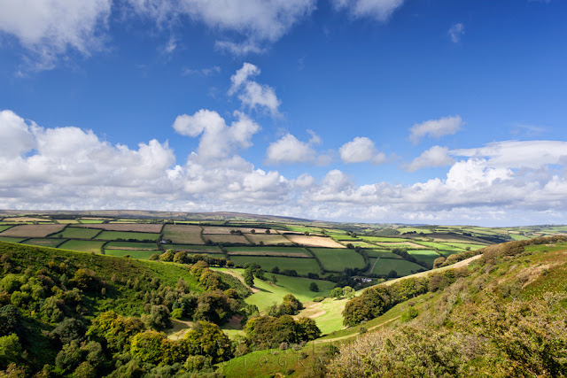 View of The Punchbowl from Winsford Hill in Exmoor by Martyn Ferry Photography