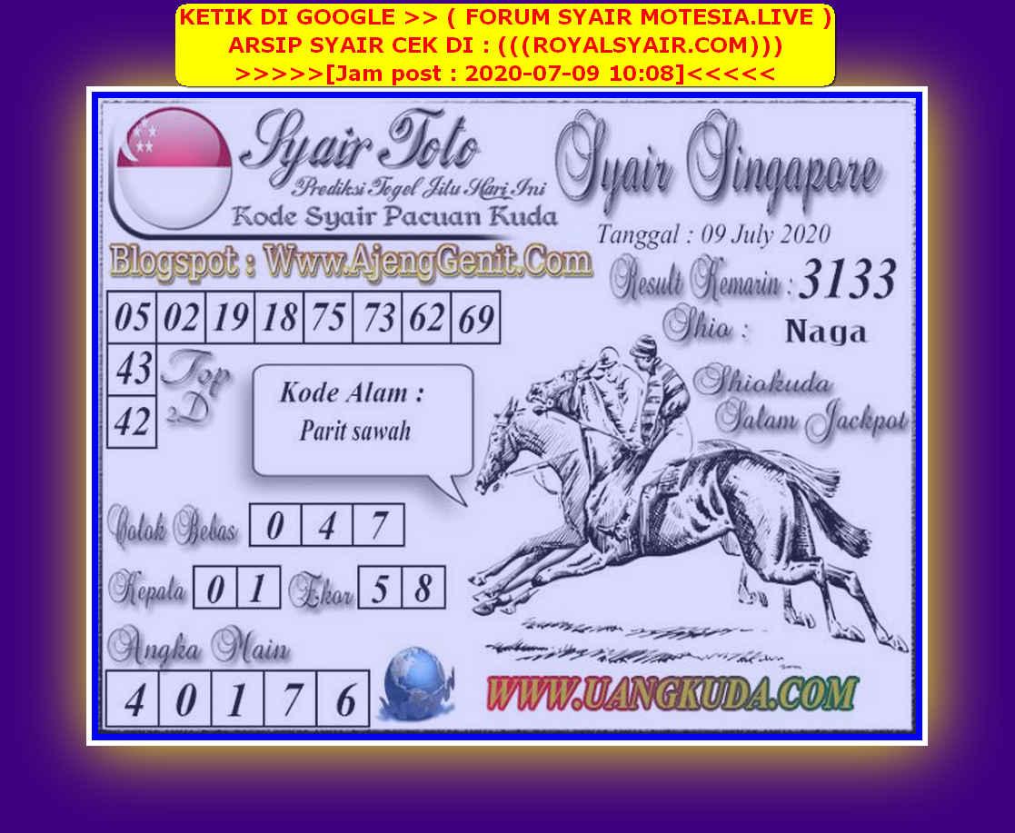 Kode syair Singapore Kamis 9 Juli 2020 135
