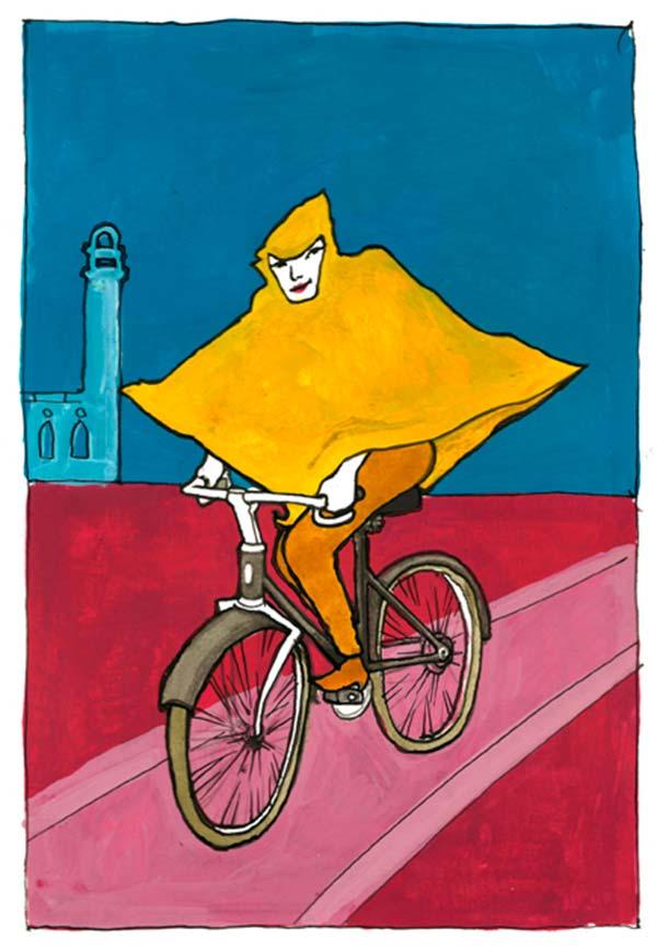 BiciIlustrada. La chica en bici de Juan Francisco Sánchez