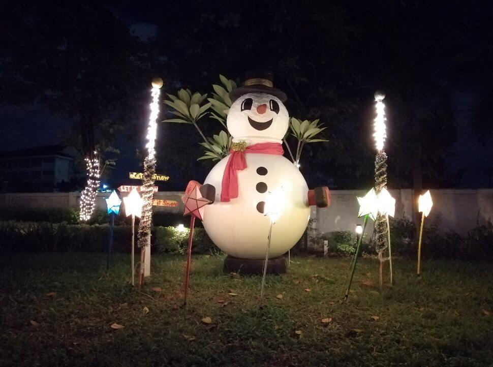 Huawei Y9 2019 Main Camera Sample - Night, Snowman - Auto