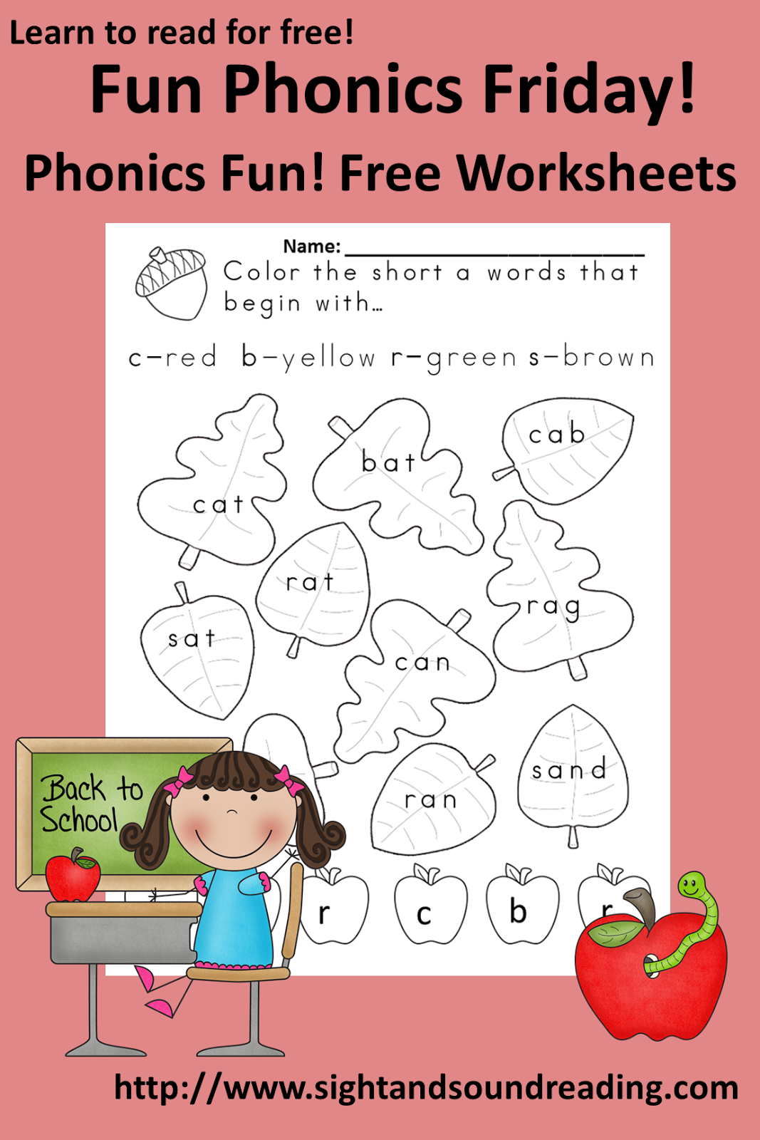 Classroom Freebies Too Fall Phonics Fun