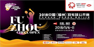Live Streaming Fuzhou China Open 2018