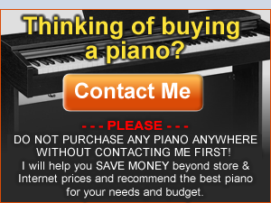WANT TO SPEND LESS MONEY ON A DIGITAL PIANO WITH EVEN LOWER PRICES? CALL US!